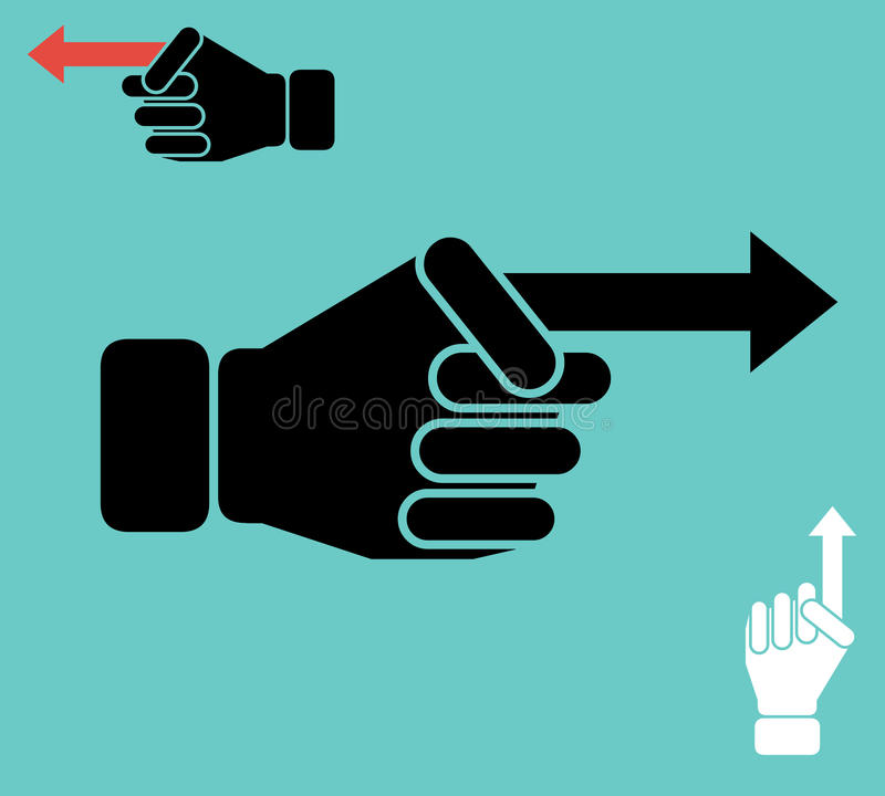 Finger como concepto de la flecha libre illustration