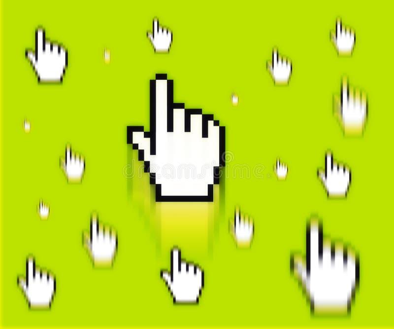 Download Finger cursor stock illustration. Image of select, selection - 1365840