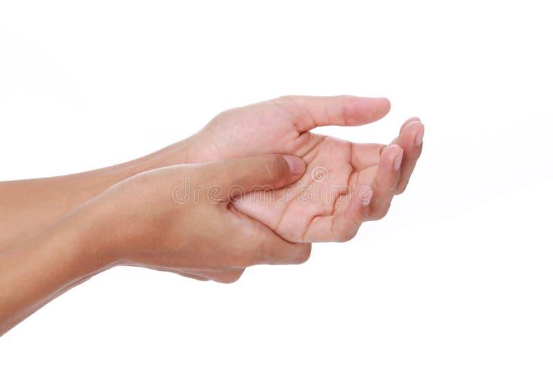 Finger del disparador imagen de archivo