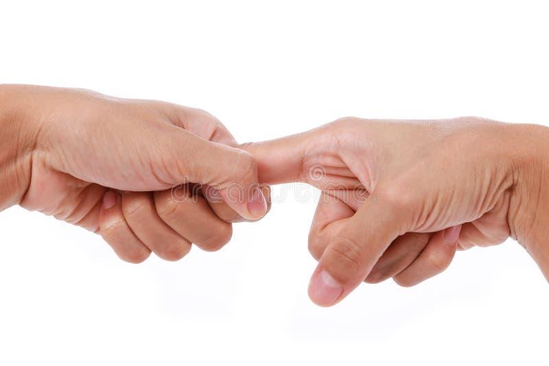 Finger del disparador Estirar el índice imagen de archivo libre de regalías
