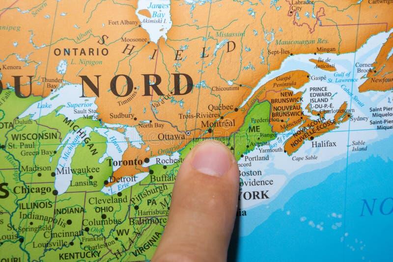 Quebec Stadt Auf Karte Stockbild Bild Von Nord Atlas 87763171