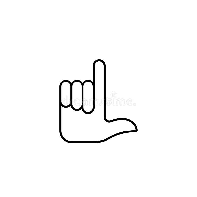 Finger der Gestenfront zwei vektor abbildung