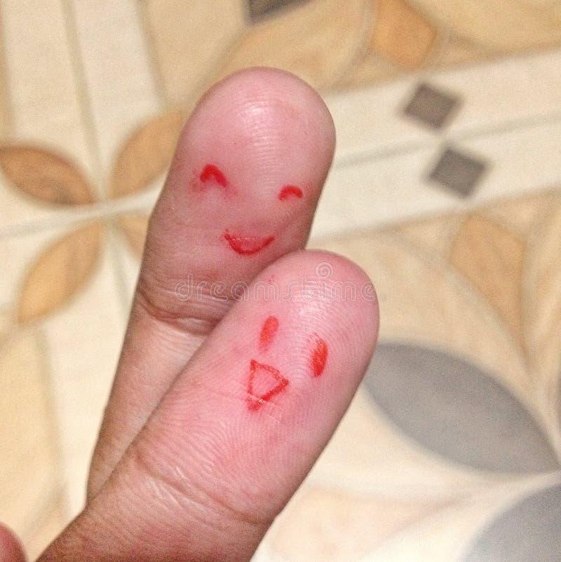 Finger dos en amor fotos de archivo libres de regalías