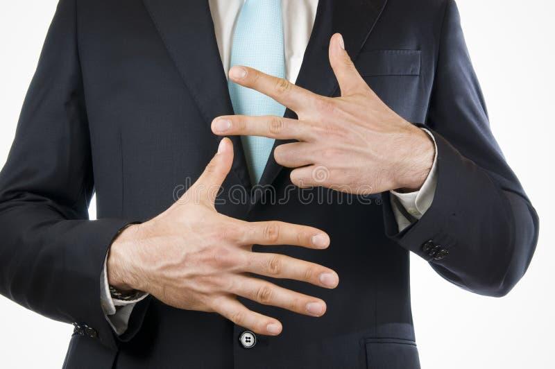 Finger eight stock photo