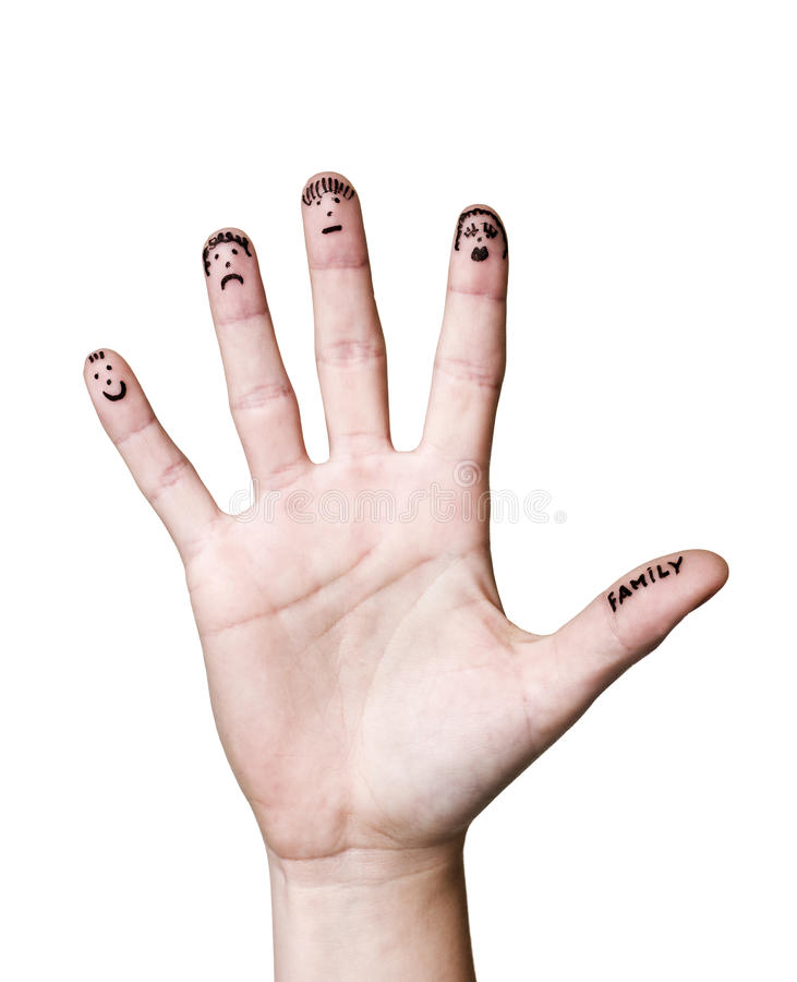 Finger family royalty free stock photos