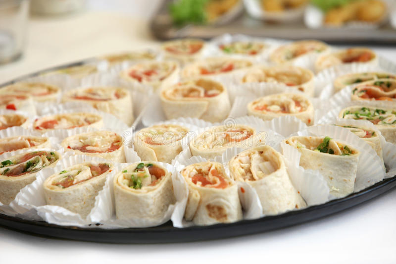 Finger food - served delicious stock images
