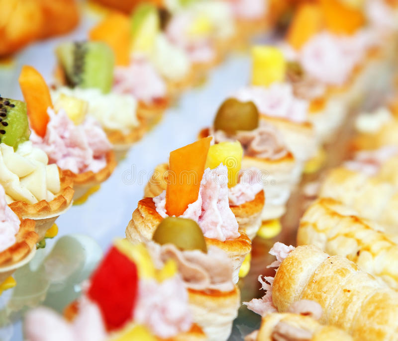Finger foods royalty free stock images