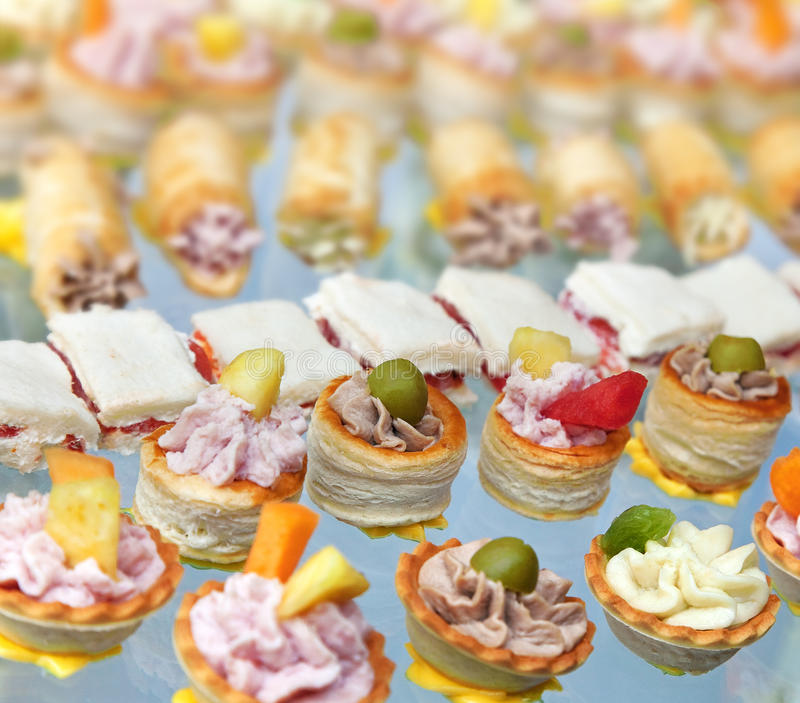 Finger foods royalty free stock photos