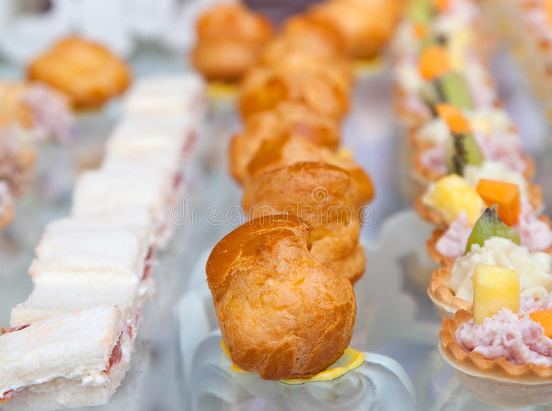 Finger foods royalty free stock photography