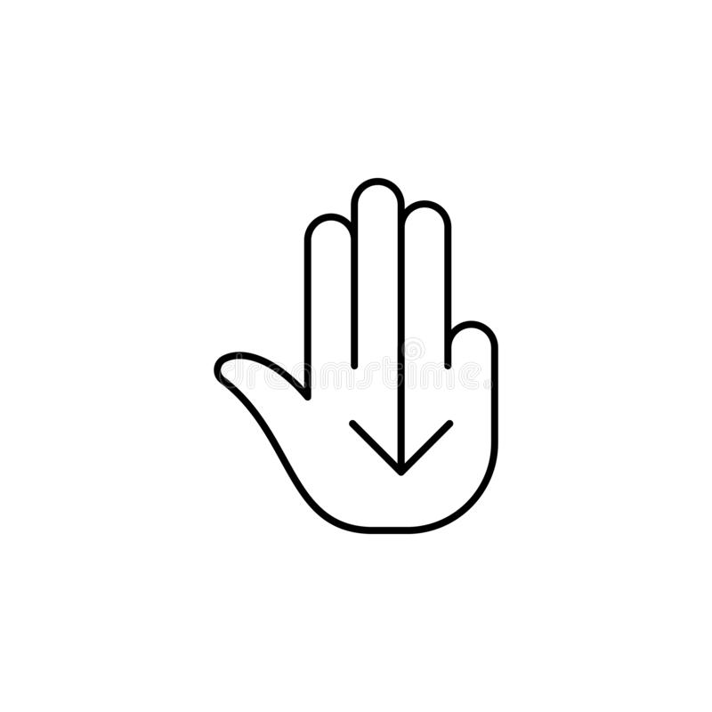 Finger, gesture, hand, hold, one, tap, high outline icon. Element of simple icon for websites, mobile, info graphics. Signs and sy stock illustration