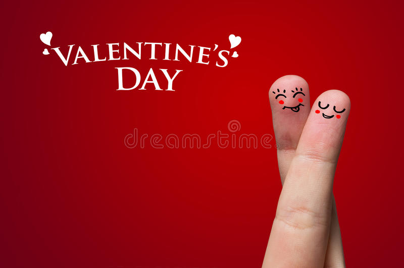Finger Hug on Valentine's day theme royalty free stock photography