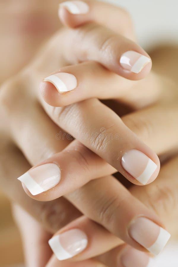 Finger nails stock images