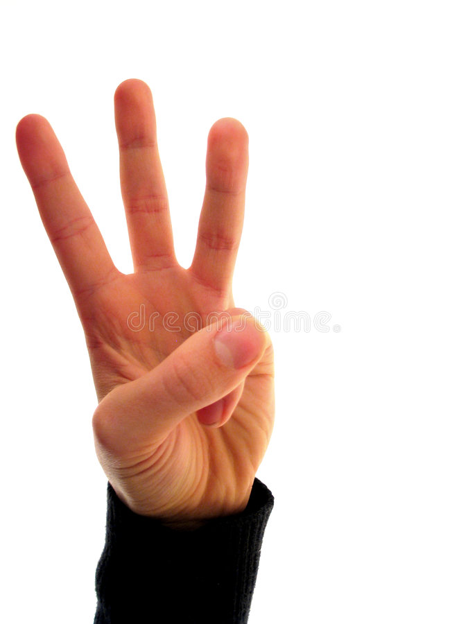 Finger number 3 royalty free stock images