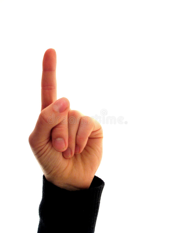 Finger numbers 1 royalty free stock photography