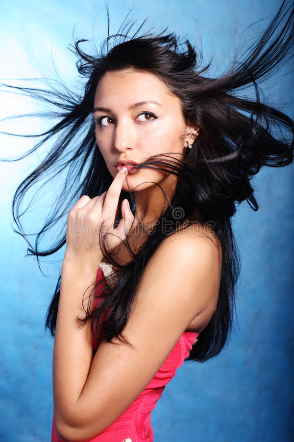 Free Finger On The Lips Of A Model Royalty Free Stock Photo - 8768835