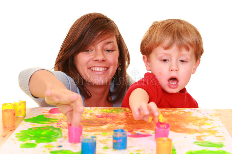 Download Finger painting stock photo. Image of thumb, happiness - 2165516