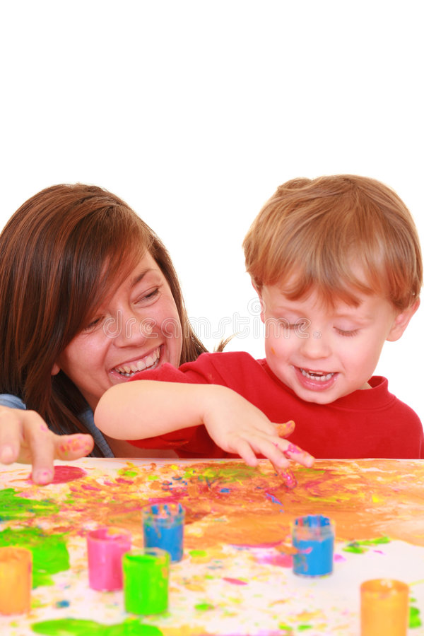 Download Finger Painting Stock Image - Image: 2165551