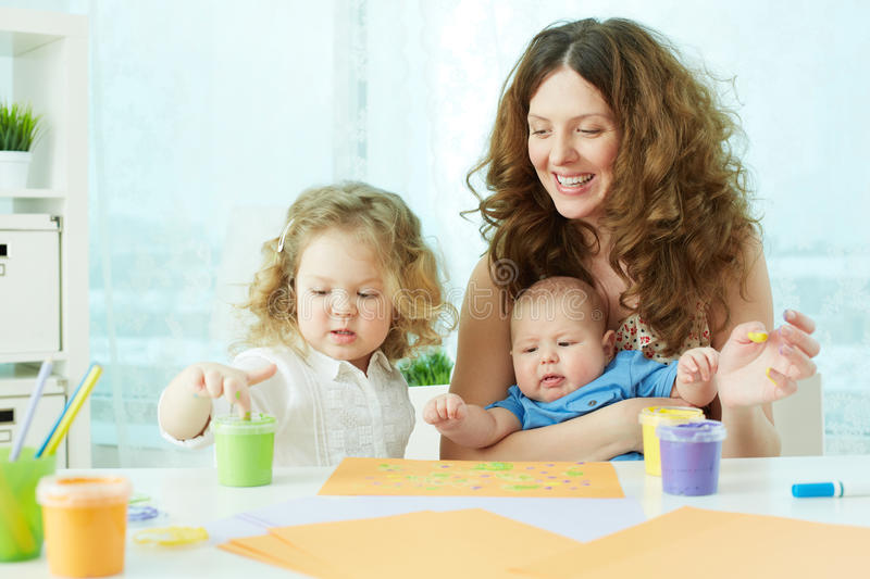 Download Finger-painting stock image. Image of children, painting - 33379839