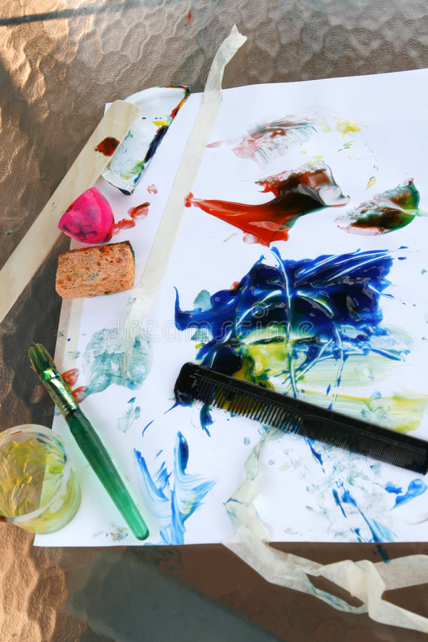 Download Finger Painting Tools-Vertical Stock Photo - Image: 5839034
