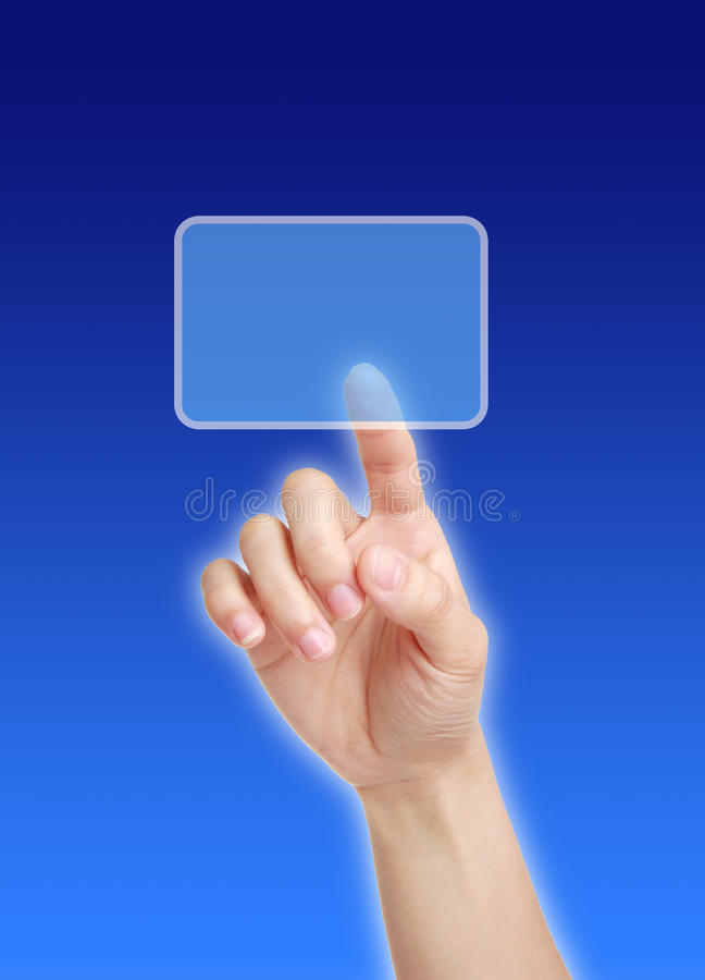 Finger point royalty free stock image