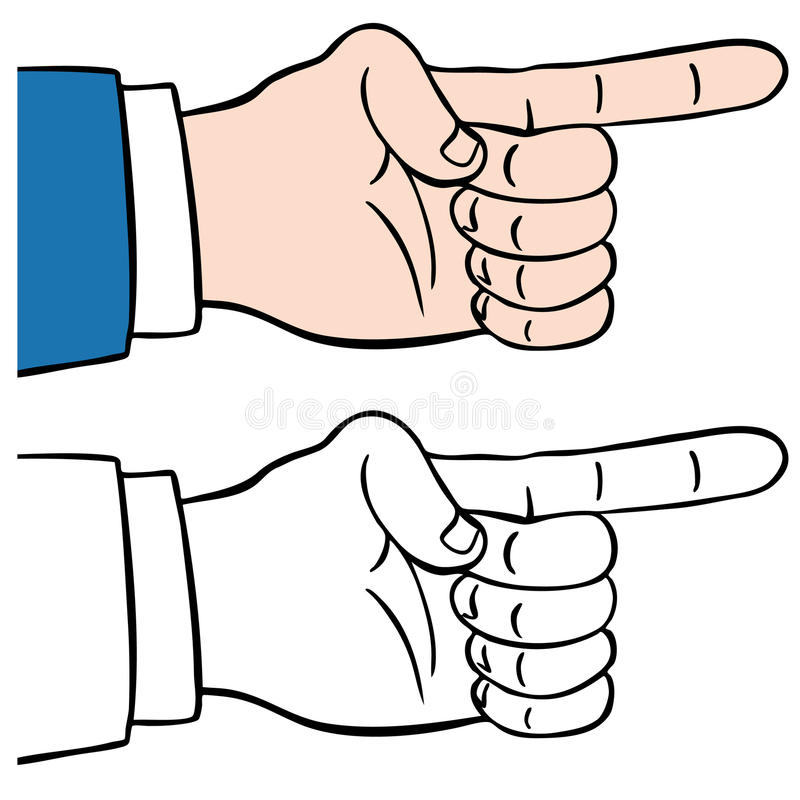 Download Finger Pointing stock vector. Illustration of signal - 15622142