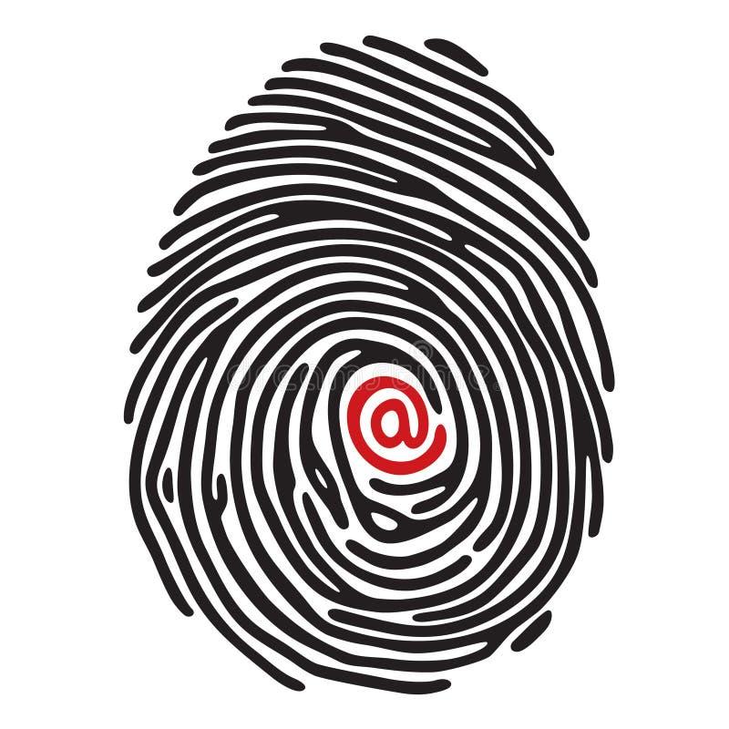 Finger print stock illustration