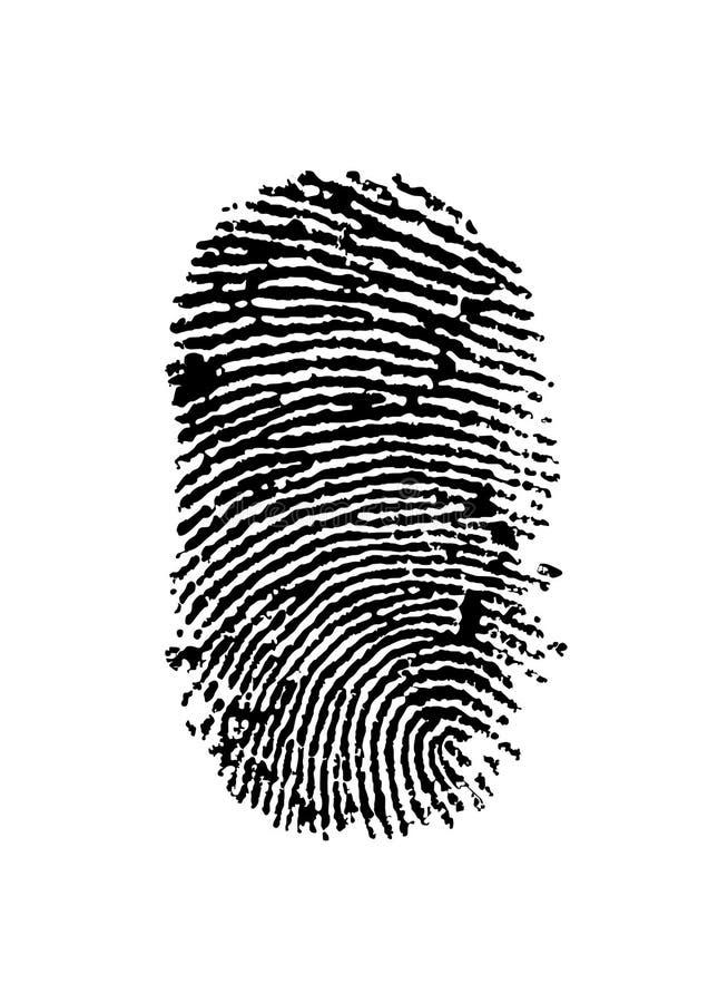 Finger print royalty free illustration