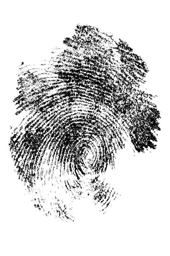 Download Finger print in close up stock illustration. Illustration of control - 1265382