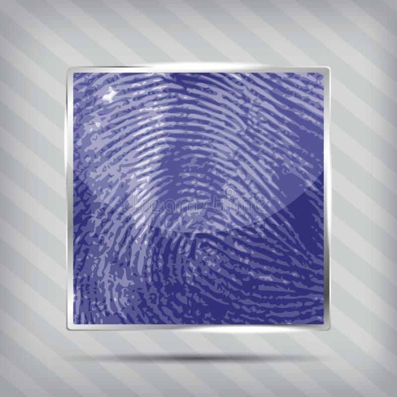 Finger Print Icon Stock Photo