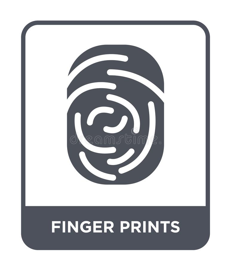 finger prints icon in trendy design style. finger prints icon isolated on white background. finger prints vector icon simple and vector illustration