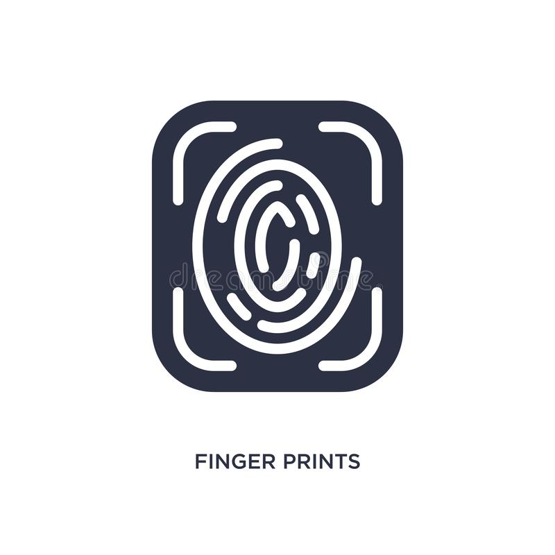 finger prints icon on white background. Simple element illustration from user interface concept vector illustration