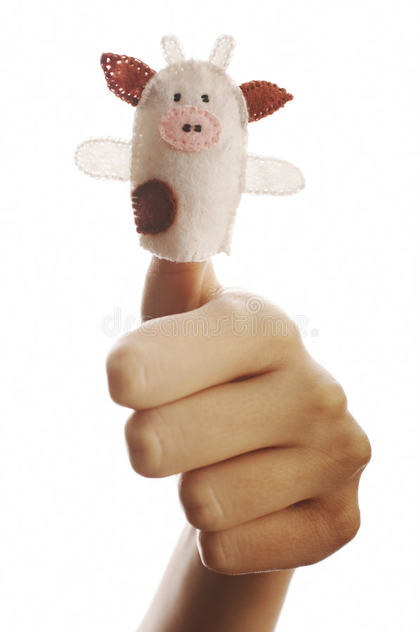 Download The finger puppet stock photo. Image of girl, isolated - 1455412