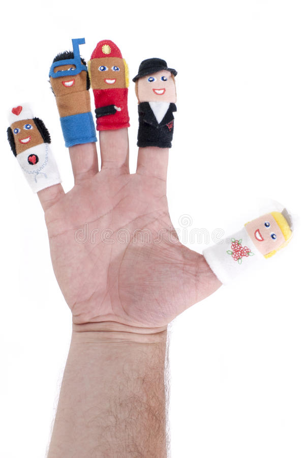 Finger puppets stock photos