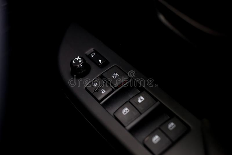Finger push lock button stock photography