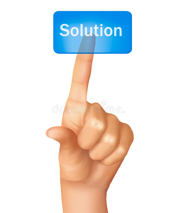 Download A Finger Pushing Learn Solution. Vector Stock Photos - Image: 21920823