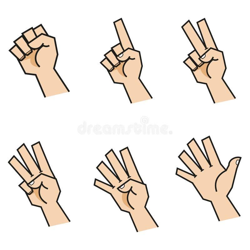 Finger que cuenta las manos Front View imagen de archivo libre de regalías