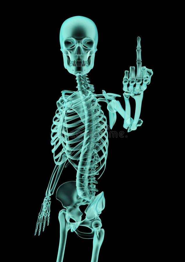 Download The finger x-ray stock illustration. Illustration of obscene - 31455201