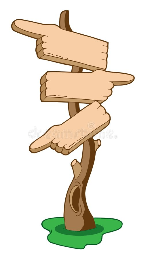 Download Finger signs on tree stock vector. Image of artwork, illustration - 5881097