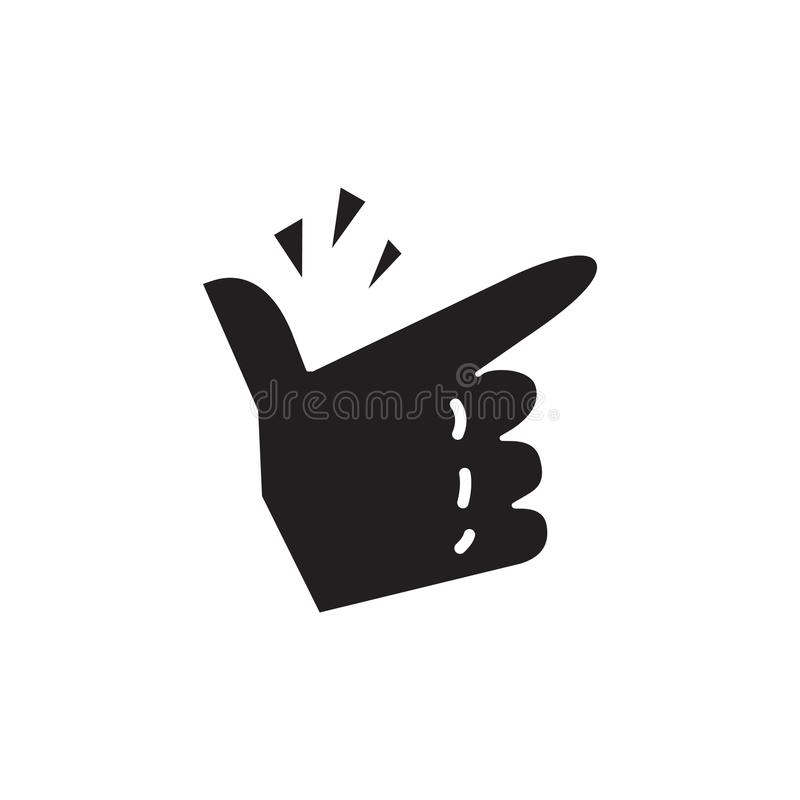 Finger Snapping icon, vector illustration royalty free illustration