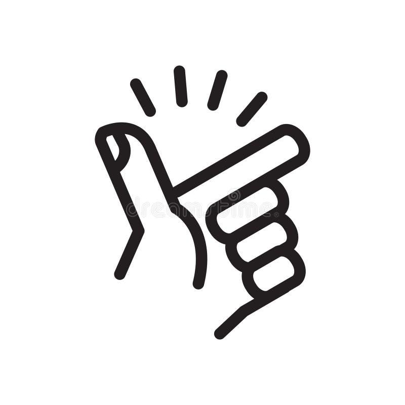 Finger Snapping icon, vector illustration vector illustration