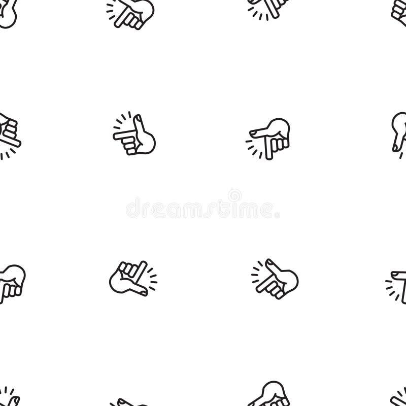 Finger Snapping pattern, vector illustration royalty free illustration
