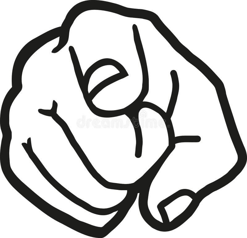 Finger som pekar på dig stock illustrationer