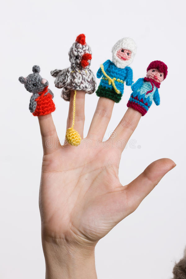 Finger-Spielwaren lizenzfreie stockbilder