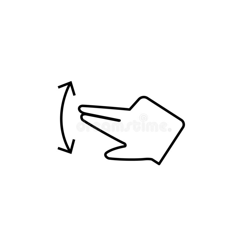 Finger, touch, screen icon. Element of corruption icon. Thin line icon on white background. On white background vector illustration