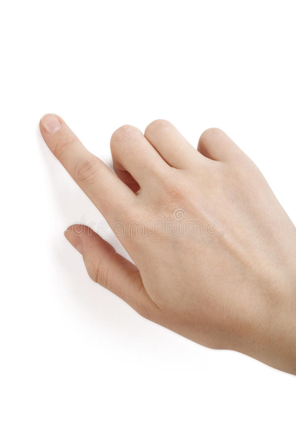 Finger touching royalty free stock image