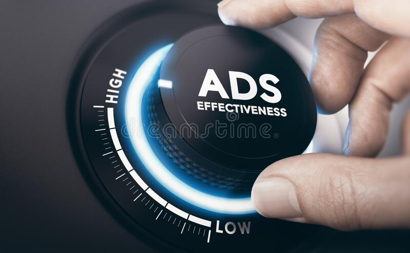 Effective Advertising Campaign. Ads Effectiveness stock images