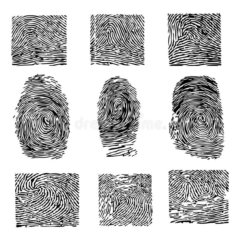Finger und Dactyloscopy lizenzfreie abbildung