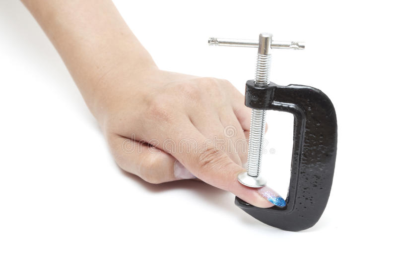 Download Finger is under pressure stock photo. Image of isolated - 15191268