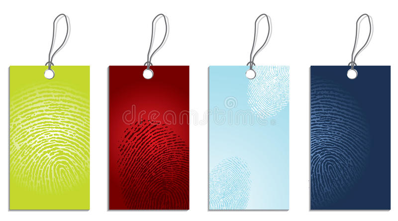 Fingerabdrücke genommen lizenzfreie abbildung