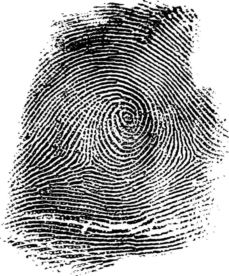 Fingerabdruck 14b stock abbildung